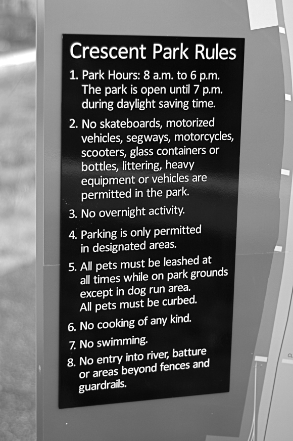 Crescent Park Rules and Regulations